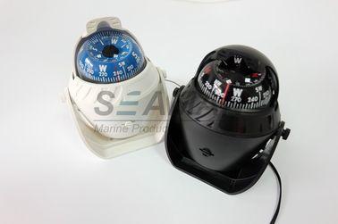 Bussola nautica marina di plastica della barca con bianco leggero/nero del LED
